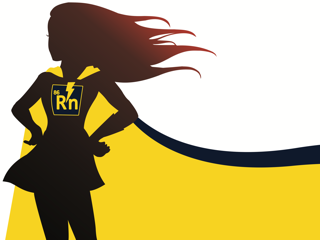 Girl silhouette with radon symbol. Radon level testing
